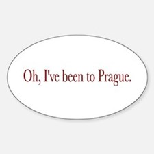 I've Been to Prague Oval Decal