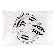 Football Colors Black And White Pillow Case