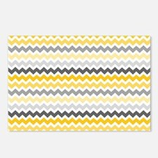 Unique Yellow gray Postcards (Package of 8)