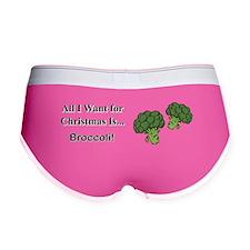 Christmas Broccoli Women's Boy Brief