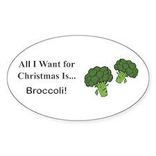 Christmas Broccoli Decal