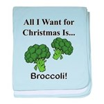Christmas Broccoli baby blanket