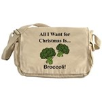 Christmas Broccoli Messenger Bag