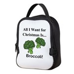 Christmas Broccoli Neoprene Lunch Bag