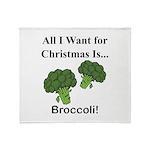 Christmas Broccoli Throw Blanket