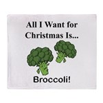 Christmas Broccoli Throw Blanket