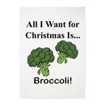 Christmas Broccoli 5'x7'Area Rug
