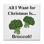 Christmas Broccoli Tile Coaster
