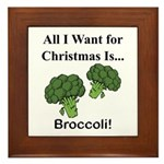 Christmas Broccoli Framed Tile