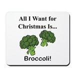 Christmas Broccoli Mousepad