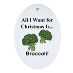 Christmas Broccoli Ornament (Oval)