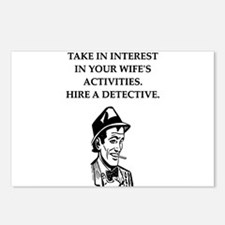 detective gifts and t-shirts Postcards (Package of