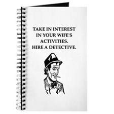 detective gifts and t-shirts Journal