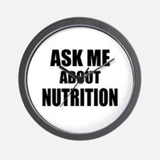 Ask me about Nutrition Wall Clock