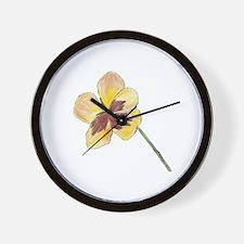Yellow Pansy Wall Clock