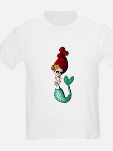El Dia de Los Muertos Mermaid T-Shirt