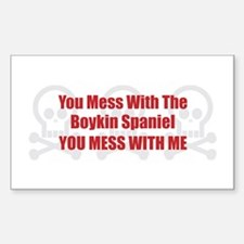 Mess With Boykin Rectangle Decal
