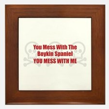 Mess With Boykin Framed Tile