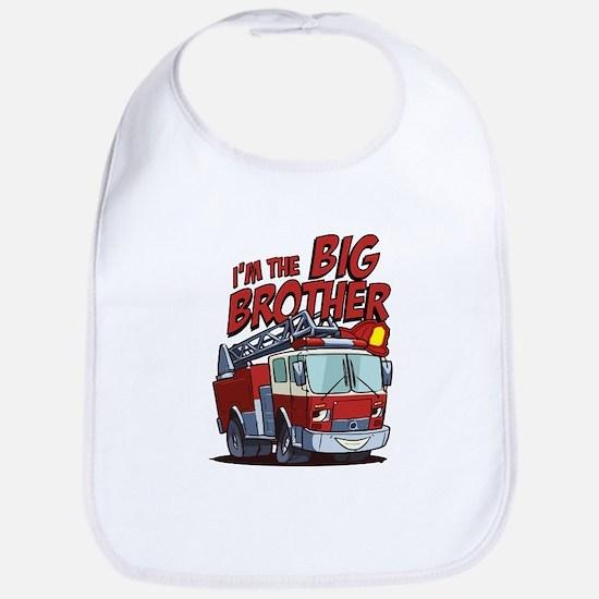 Big Brother Fire Truck Cotton Baby Bib
