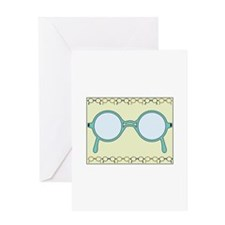 Framed Glasses Greeting Cards