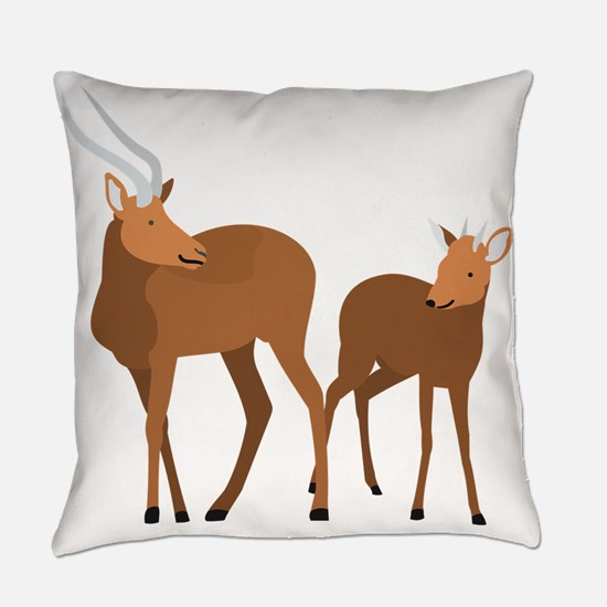 Cute Gnu Everyday Pillow