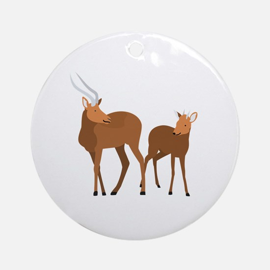 Cute Antelope Round Ornament