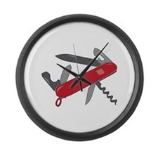Swiss Army Knife Large Wall Clock