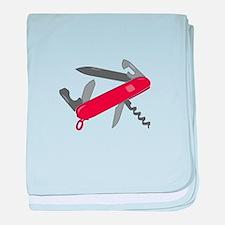 Swiss Army Knife baby blanket