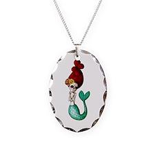 El Dia de Los Muertos Mermaid Necklace