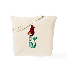 El Dia de Los Muertos Mermaid Tote Bag