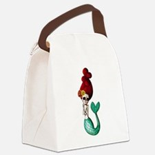El Dia de Los Muertos Mermaid Canvas Lunch Bag