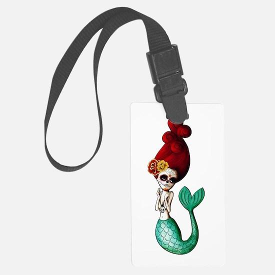 El Dia de Los Muertos Mermaid Luggage Tag