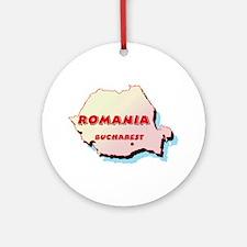 Romania Map Ornament (Round)