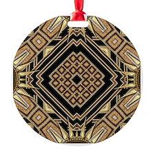 Art Deco Black Gold 1 Ornament