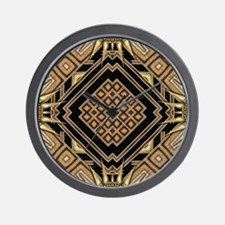 Art Deco Black Gold 1 Wall Clock