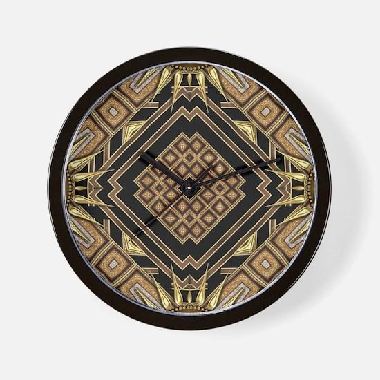 Art Deco Black Gold 1 Wall Clock