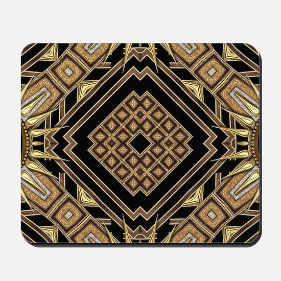 Art Deco Black Gold 1 Mousepad