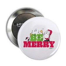 "Snoopy: Be Merry 2.25"" Button"