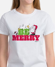 Snoopy: Be Merry Women's T-Shirt