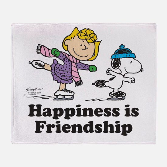 Happiness is Friendship Throw Blanket