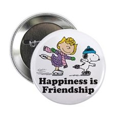 """Happiness is Friendship 2.25"""" Button"""