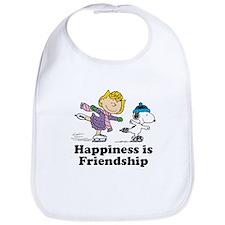 Happiness is Friendship Bib