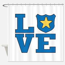 Love Law Enforcement Shower Curtain