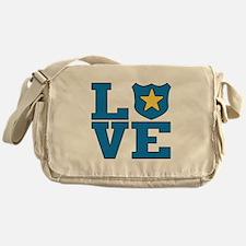 Love Law Enforcement Messenger Bag