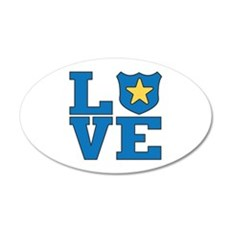 Love Law Enforcement Wall Decal