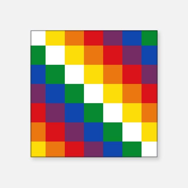 """Cute Boliviano Square Sticker 3"""" x 3"""""""