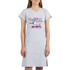 Snoopy and Woodstock Dashing Th Women's Nightshirt