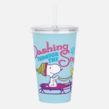 Snoopy and Woodstock D Acrylic Double-wall Tumbler