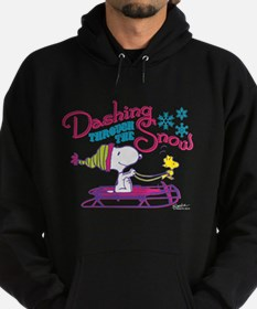 Snoopy and Woodstock Dashing Through Hoodie