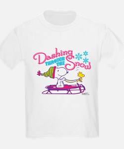 Snoopy and Woodstock Dashing Th T-Shirt